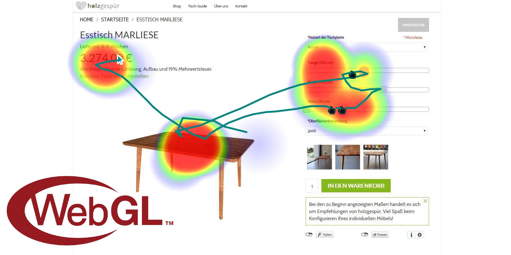 WebGL in Tester Software