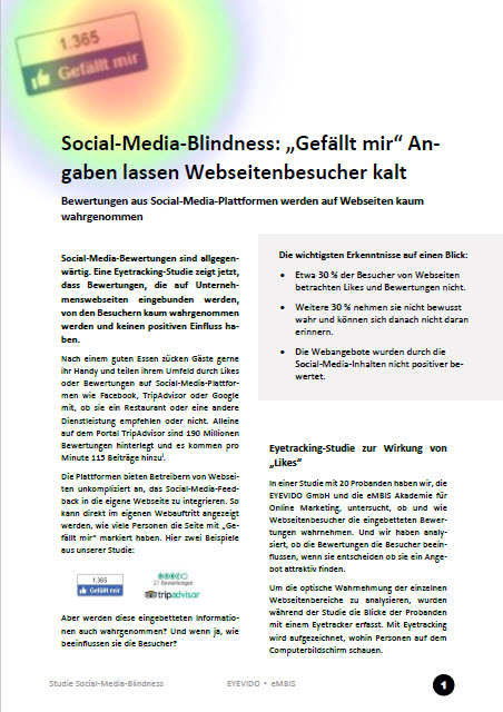 <i>Study:</i> Social-Media-Blindness - &quot;I like&quot; Information leaves website visitors cold