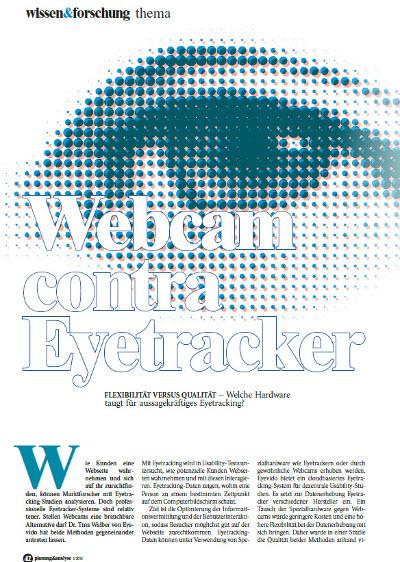 <i>Study:</i> Flexibility versus quality - eye tracking with webcam or eye tracker?