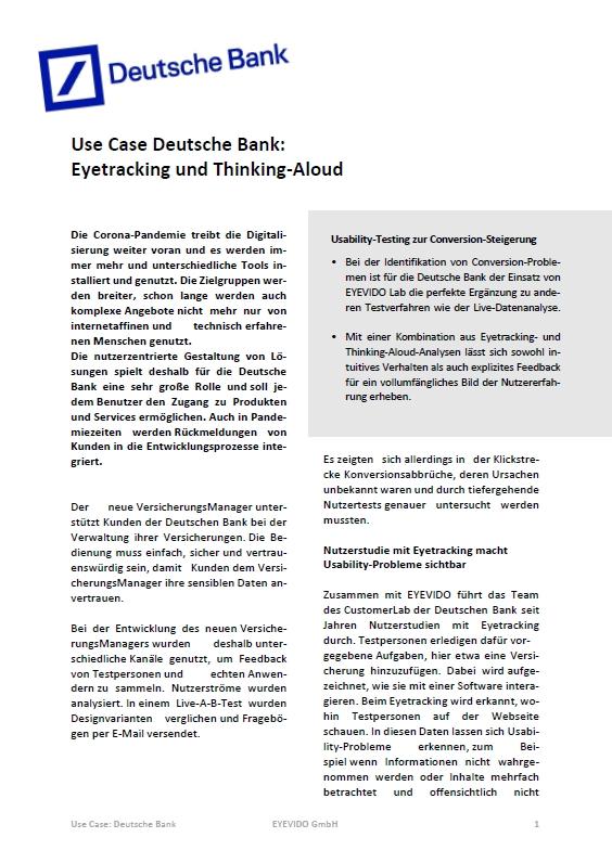 Use Case Deutsche Bank
