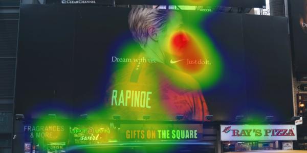 Heatmap billboard eyetracking